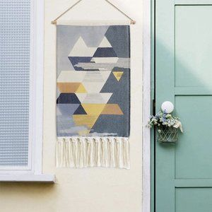 Boho Geometric Macrame Woven Wall Hanging Tapestry
